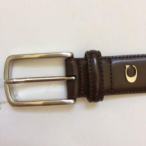 Coach men's leather belt brown 40